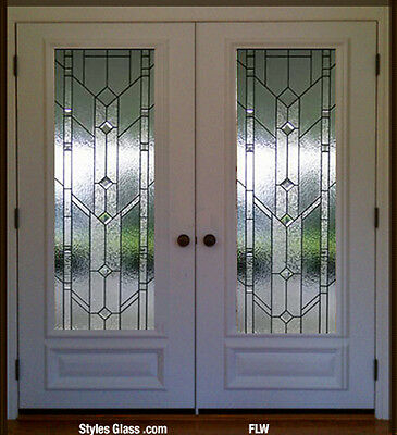 Stain Glass Pocket or french interior doors with Frank L Wright style glass