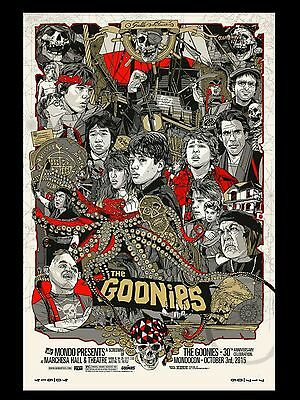 """The Goonies 16"""" x 12"""" Reproduction Movie Poster Photograph"""