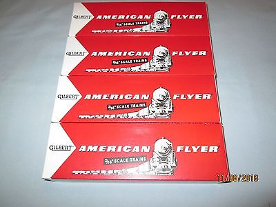 """4 Reproduction American Flyer Freight Car Boxes. 9.5"""" Long"""