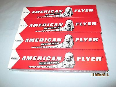 """4 Reproduction American Flyer Passenger Car or Diesel Engine Boxes. 14.5"""" Long"""