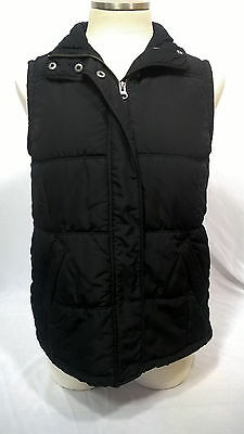 Women's Women's Motherhood Maternity Black Snap/Zip Puffer Vest S