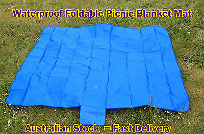 Waterproof Foldable Pinic Blanket Mat Rug Outdoor Beach Travel Camping T
