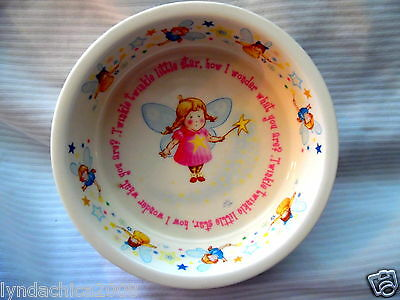 Children's Twinkle Twinkle Little Star Plate Bowl By Anderton Pottery England