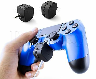 3.5mm Headset Headphone Mic Controller Adapter for Gaming PS4 PlayStation Black