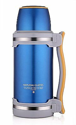 Stainless Steel Insulated Vacuum Flask Thermos Coffee Soup Camping Bottle 2L