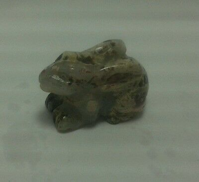 Natural stone carved bunny