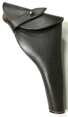 British WWI & WWII .455 Webley Revolver Dark Brown Leather Holster