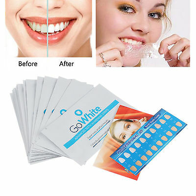 28 Professional 3D GO White Effects Teeth Whitening Strips Bleaching Whitestrips