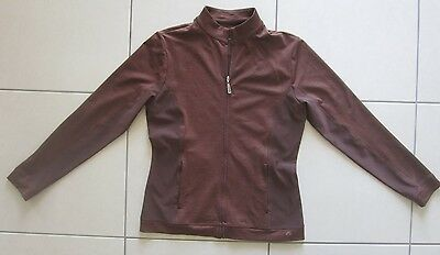 Bette & Court Ladies Golf Jacket Chocolate Size Small