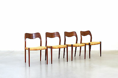 4x Dining Chairs Rosewood by Nils O. Møller Mod. 71 Danish Modern Design