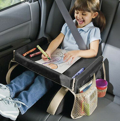 Baby Kids Travel Car Seats Console Organizer Toy Holder Tray Table Drawing Board