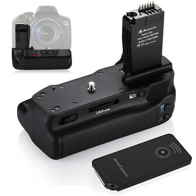 BG-E18 Battery Grip for Canon EOS 760D 750D 8000D Rebel T6i T6s X8i + IR Remote