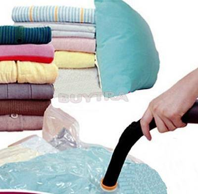 Large Space Saving Storage Vacuum Bags Clothes Bedding Organiser Under Bed Fg