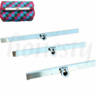 Purse Wallet Frame Bar Edge Strip Clasp  Metal Openable Edge Replacement 12-18cm