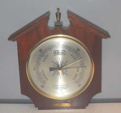 Vintage Comitti Of London Compensated Wall Barometer With Presentation  Plaque