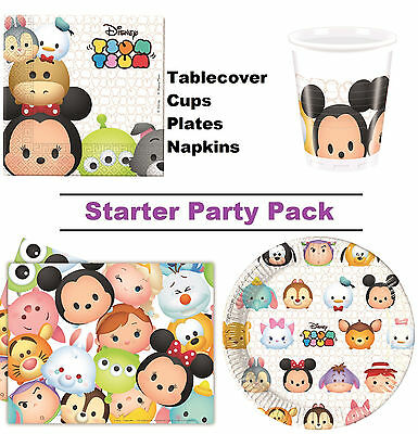 Disney Tsum Tsum | Mickey 8-48 Guest Starter Party Pack - Cup | Plate | Napkin