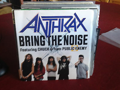 """Anthrax & Public Enemy - Bring The Noise / Rare 7"""" Vinyl Serigraphy1988. Nm / Nm"""