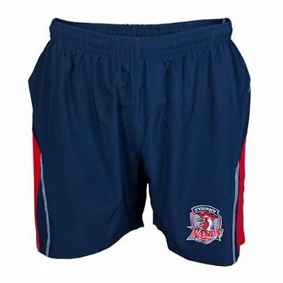 Sydney Roosters NRL Mens Microfibre Training Gym Shorts BNWT Rugby Clothing