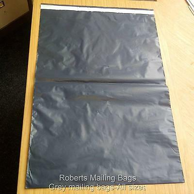 Strong Grey Plastic Mailing Postal Poly Postage Bags With Self Seal All Sizes