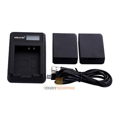 2x1250mAh Battery+USB charger For Canon LP-E10 LPE10 EOS 1200D Rebel T3 Kiss X50