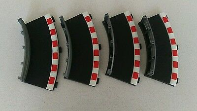 scalextric black inner track drift barriers - set of 4