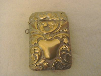 Vintage Ornate Brass Vesta Case.