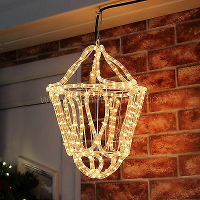 33Cm Mains Outdoor Wall Hanging 3D Christmas Rope Lantern Led Light Decoration