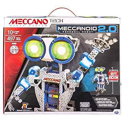 Meccano Meccanoid 2.0 Programmable Robotic 2ft Tall with 6 Motors For Ages 10 Up