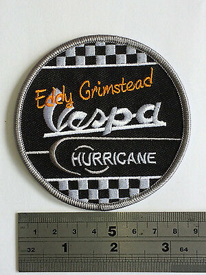 Vespa Eddy Grimstead Patch - Embroidered - Iron or Sew On