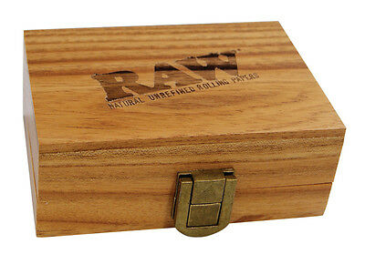 RAW Wooden Rolling box Smokers Gift Rolling Stash Box Magnetic