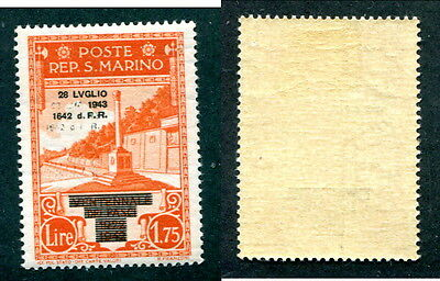 Mint San Marino Stamp with Doubled Overprint #223var (Lot #12127)
