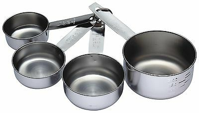 Kitchen Craft Stainless Steel Four Piece Measuring Cup Set