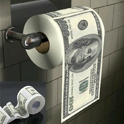 Hundred $100 Dollar Bill Toilet Paper One Hundred Money Tissue Roll Papers