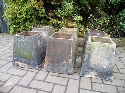 Set Of 6 Antique Victorian Chimney Pots Salvage Garden Landscaping Architectural