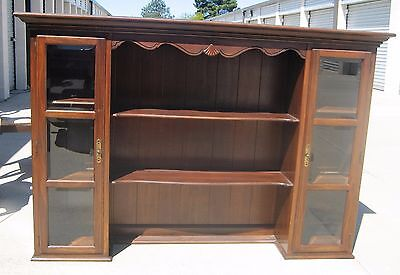 Ethan Allen China Cabinet Hutch TOP ONLY