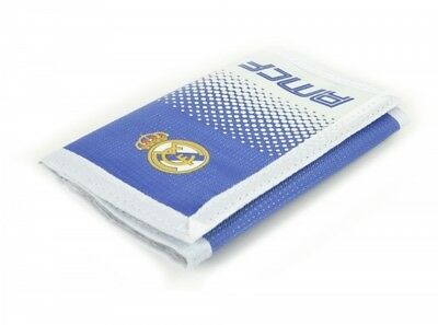 Real Madrid Football Wallet Tri-Fold Crest White Blue Coins Money Purse Official