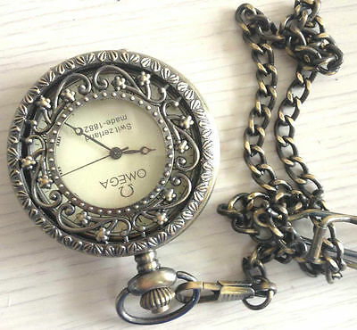 Good conditon working pocket watch chain hollowed exquisite Chinese antique