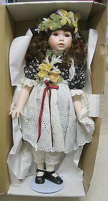 "Estate Sale Marie Osmond Four Seasons Amber Autumn Porcelian 24"" Doll LE #1106"