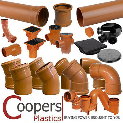 Underground Drainage 110mm - TRADE PRICE - Pipe Fittings - Bends, Traps & Bases
