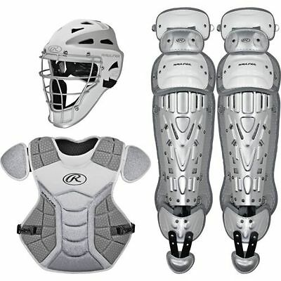 Rawlings Intermediate Catcher Set Velo Series Protective Gear- White/Silver
