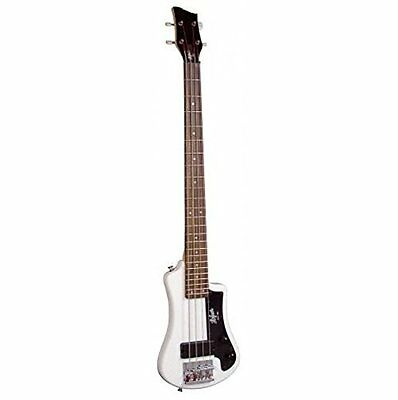 Hofner HCT Shorty Electric Travel Bass Guitar - White