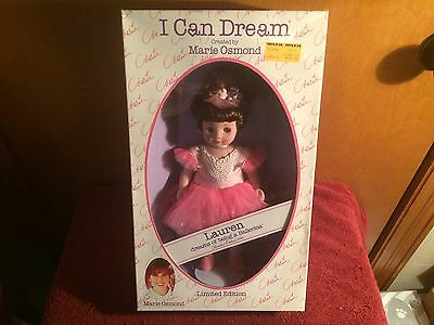 "1993 Marie Osmond I Can Dream Doll ""Lauren"" dreams of being a ballerina"