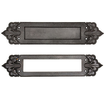Antique Cast Iron Letter Slot Set with Fleur-De-Lis, NLS27