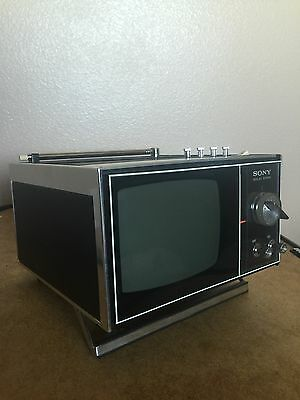 "Vintage 1967 Sony Transistor Solid State 5"" Portable Television Model TV-500U"