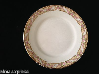 "RARE Homer Laughlin Empress China E1315M Pink Roses Gold 6"" BREAD & BUTTER PLATE"