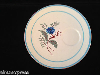 Stangl Pottery Hand Painted BLUE DAISY - SNACK PLATE