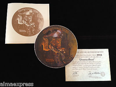"""5th Annual Norman Rockwell 1978 """"Christmas Dream"""" Collector Plate"""