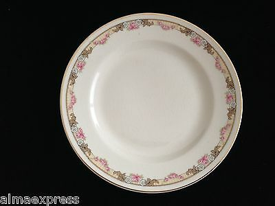 KT&K Knowles Taylor Ivory Semi Vitreous China Roses Yellow 7-1/8 SALAD PLATE 34B