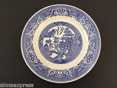 "Blue Willow Ware USA by Royal China Cavalier Ironstone - 10"" DINNER PLATE"