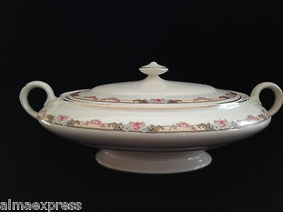 KT&K Knowles Taylor Ivory Semi Vitreous China Roses Yellow LIDDED CASSEROLE 41B
